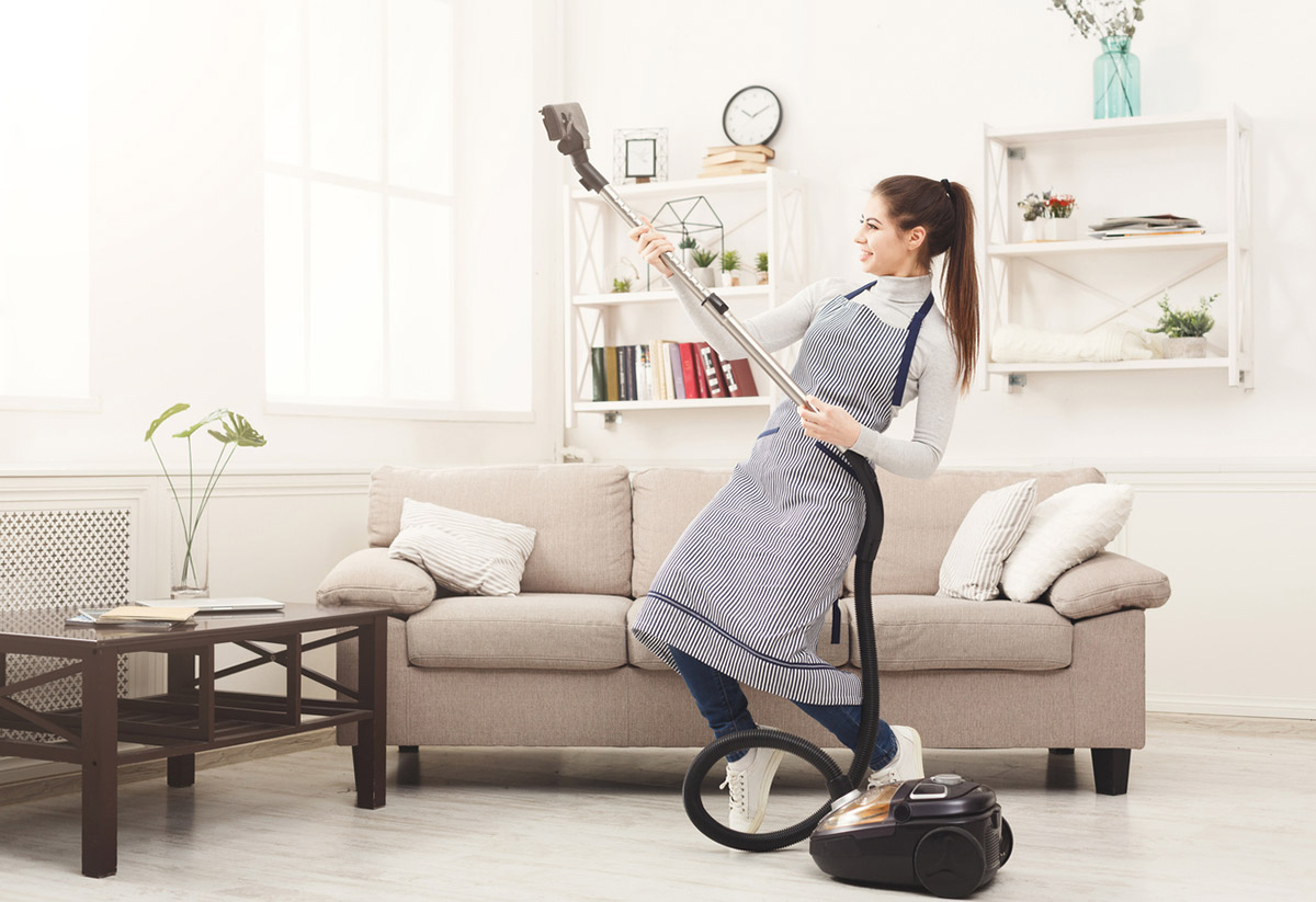 Прибирання за допомогою смартфона, мішка та трьох кіл